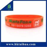 Настраиваемые красочные силиконовый браслет и браслет с цветным заполнены/ Печать логотипа