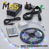5m 5050 60 LEDs RGB de 24 teclas 12V Kit de Luz de LED