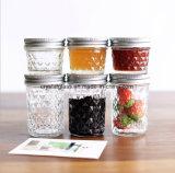 Plaid prägte Kaviar-Glasmarmeladen-Gelee-Nahrungsmittelmaurer-Glas