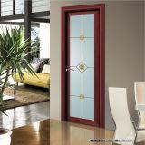 Stile moderno Swingdoors di alluminio con il reticolo di fiore dello specchio