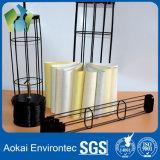Chapado de zinc de alta calidad de la jaula de apoyo bolsa de filtro