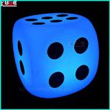 Il LED ha illuminato le lampade d'ardore della disposizione dei posti a sedere dei dadi dei dadi del cubo