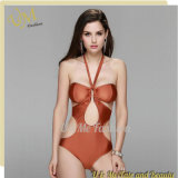 Конструкция цвета Brown сексуальная новая один Swimwear Swimsuit части