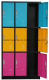 Kast/Kabinet/Garderobe van de Opslag van het Ijzer van het Staal van het Metaal van 9 Deur van de kwaliteit de het de Goedkope