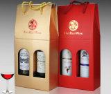 Caixas de papel de empacotamento do vinho com indicador (WB-019)