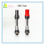 Keramischer Vape Cbd Öl-Zerstäuber des Pyrex Glas-Oberseite-Luftstrom-0.5ml/1.0ml