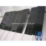 Carreaux de marbre de veine en bois noir pour les revêtements de sol ou au mur/carreaux de marbre noir/carreaux de marbre chinois