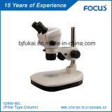 Microscopio estéreo del examen del PWB del zoom para el instrumento microscópico portable