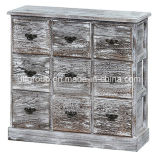 Hot Sale European Vintage Style Wooden Packaging Cabinet