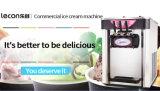 Soft servem sorvete de livros comerciais da Máquina