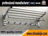 Porte-serviettes pliable en acier inoxydable 304 en acier inoxydable (LJ502T)