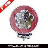 De 5 pulgadas de alta potencia Impermeable IP68 45W LED redonda de la luz de trabajo