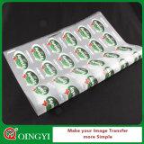 Etiqueta da transferência térmica do preço da fábrica de Qingyi boa para o t-shirt