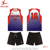 Plein uniforme de volleyball de sublimation de teinture de Healong