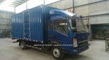 Carro 160HP del camión del carro de HOWO 4*2 Van Box Cargo