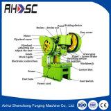 J23 máquina de perfuração pequena automática do metal de folha de 100 T