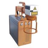 Máquina de la marca del laser con la plataforma rotatoria a la lámpara de la marca LED