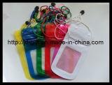 De plastic Waterdichte Zak van pvc voor Telefoon, kon het Embleem van de Douane toevoegen