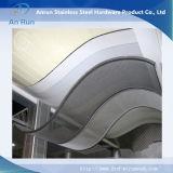 Strato perforato di alluminio con le onde