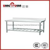 Taille personnalisée banc de travail en acier inoxydable avec refoulement 2 niveaux