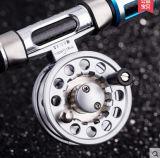 آلة قطعة مقبض ألومنيوم ذبابة صيد سمك بكرة لفّ طي بكرة لفّ