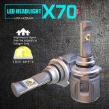 新しいX70 60W 15600lm 9005 12V 24V自動車LEDのヘッドライトの球根の自動車ライト