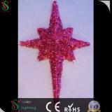 Decoratie van de Wandelgalerij van het acht LEIDENE van de Verlichting van de Vakantie van de Ster 3D Motief van de Slinger Lichte