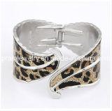 El patrón de leopardo Scrub Gangle aleación chapados en plata Brazalete Brazalete de joyería de aleación de color de piel de leopardo (PB-103)