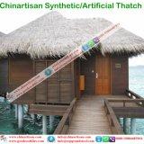 Synthetische Stijl van het Eiland van het Eiland van de Maldiven Cook met stro bedekt de Tropische de Paraplu van het Strand van de Bungalow van het Water van het Plattelandshuisje van de Hut van de Staaf Tiki