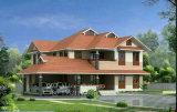 Het draagbare Modulaire PrefabHuis van de Structuur van het Staal van het Huis Lichte als Villa