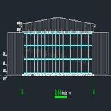 Costruzione prefabbricata chiara del magazzino della struttura d'acciaio per il riparo di velivoli