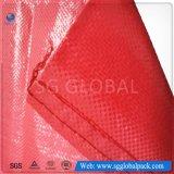 De PP vermelho 50kg durável saco de tecido para embalagem de feijão