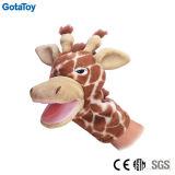Giocattolo farcito della giraffa del burattino di mano della giraffa della peluche di alta qualità
