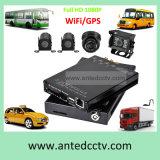 Cámaras de 4 canales Sistemas de seguridad automotriz con seguimiento GPS Monitorización de 4G Network Smartphone