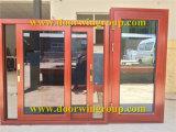De aluminio Ventana corredera horizontal con mosquiteras, Doble Acristalamiento de cristal de aleación de aluminio ventana deslizante