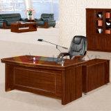 オフィス用家具(HY-8718)のためのL形の焦茶E1 MDFのベニヤカラーオフィス表