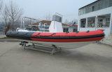 Aqualand 21.5 pies barco/rescate inflable rígido/patrulla del salto de barco/de la costilla de pesca de los 6.5m (rib650b)