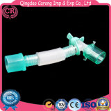 Tubo para respirar de la anestesia médica del material plástico