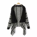 2018 Grosso Europa/EUA Outono / Inverno elegante Senhoras/Mulheres Poncho tricotado com lenço de franja