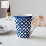 De blauwe Mok van de Drank van de Mok van de Thee van de Mok van de Koffie van het Porselein van het Embleem van de Kleur 11oz Company