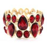 ラインストーンレトロ様式の広いブレスレットの上の製造業者の方法宝石類
