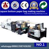 Bolsa de papel inferior cuadrada el SOS que hace el bolso de compras del papel de máquina que hace la máquina