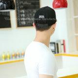 黒いPUの革縁の野球の完全なカスタム継ぎ目のテープおよび札の帽子