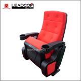 El cine auditorio de cuero de lujo Leadcom silla basculante con portavasos (LS-6601)