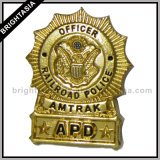 Insignia de policía profesional con nosotros capitán del metal para el ejército (BYH-10059)