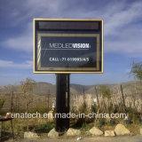 Caja de presentación al aire libre de aluminio puesta a contraluz de LED del canal de la bandera de la película de los media de publicidad del soporte de Unipole del metal