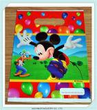 Gestempelschnittene Locher-Griff Zoll gedruckte Soem-KleinplastikEinkaufstasche