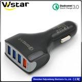 QC3.0 порта, 3 порта USB универсального автомобильного зарядного устройства с электроприводом
