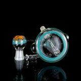 Pipa de vidrio del tubo de vidrio coloreado el tazón de vidrio grueso tubo de agua shisha Hookah Soplado embriagador botella lavagases tabaco