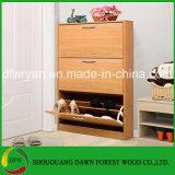 Het eenvoudige Kabinet van 3 van de Laag Moderne Houten Schoenen van de Melamine